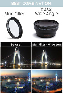 Star Filter Wide Angle HD Phone Lens