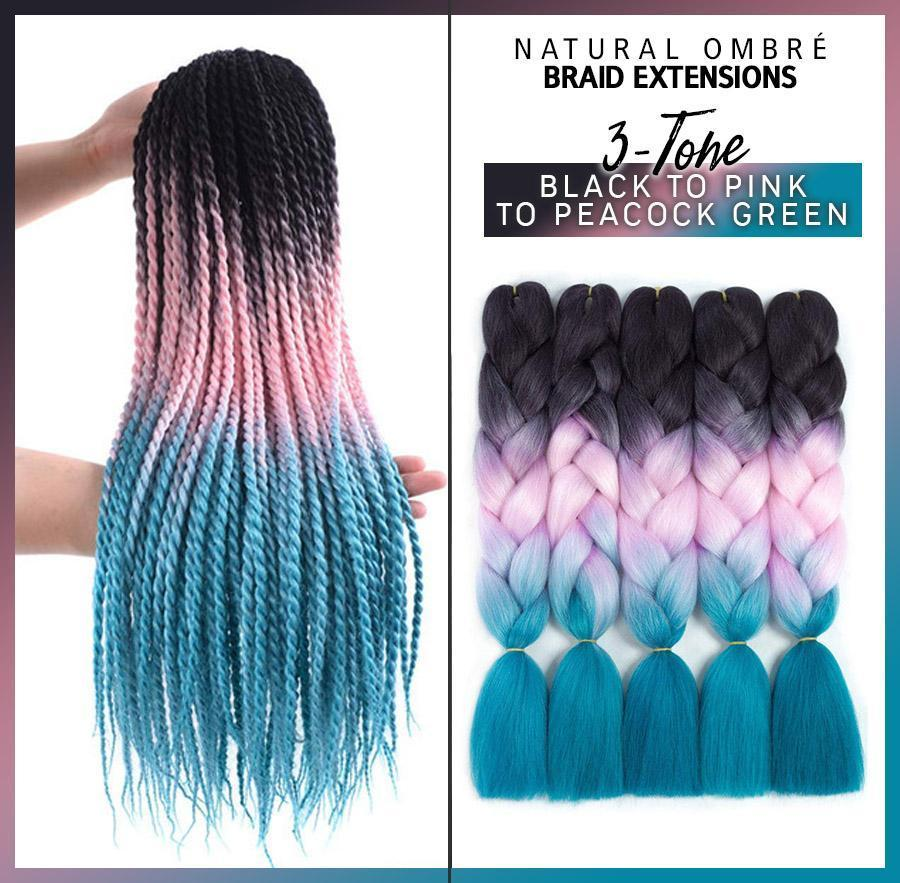 Natural Ombre Braid Extensions