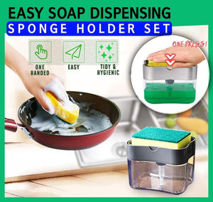 Easy Soap Pump Sponge Holder Set old
