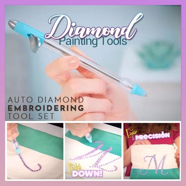 Auto Diamond Embroidering Tool Set
