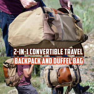 2-in-1 Convertible Travel Backpack and Duffel Bag