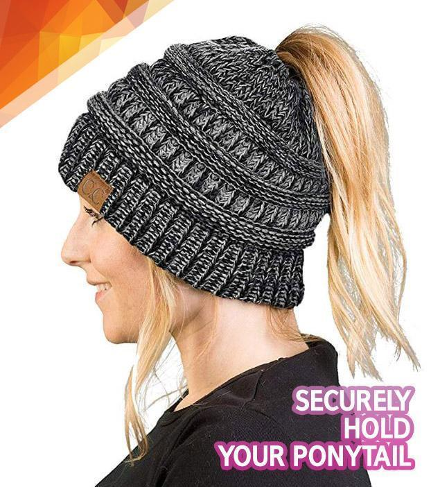 Handcrafted Ultra Warm Ponytail Winter Beanie