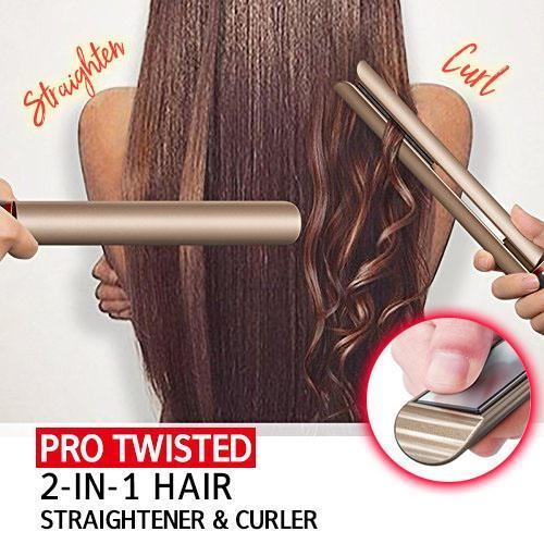 Pro Twisted 2-in-1 Hair Straightener & Curler