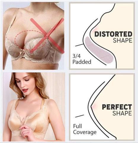 Full Coverage Wireless Silk Front Closure Bra