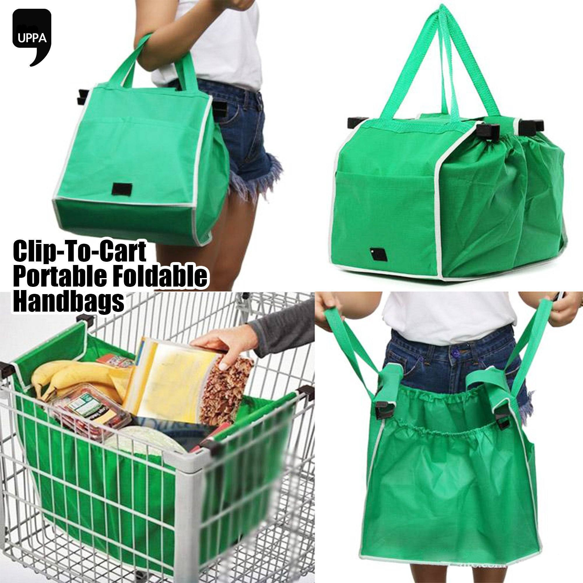 Clip-To-Cart Portable Foldable Handbags