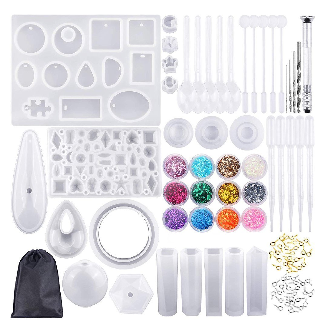 DIY Handmade Crystal Glue Mold Set (83pcs)