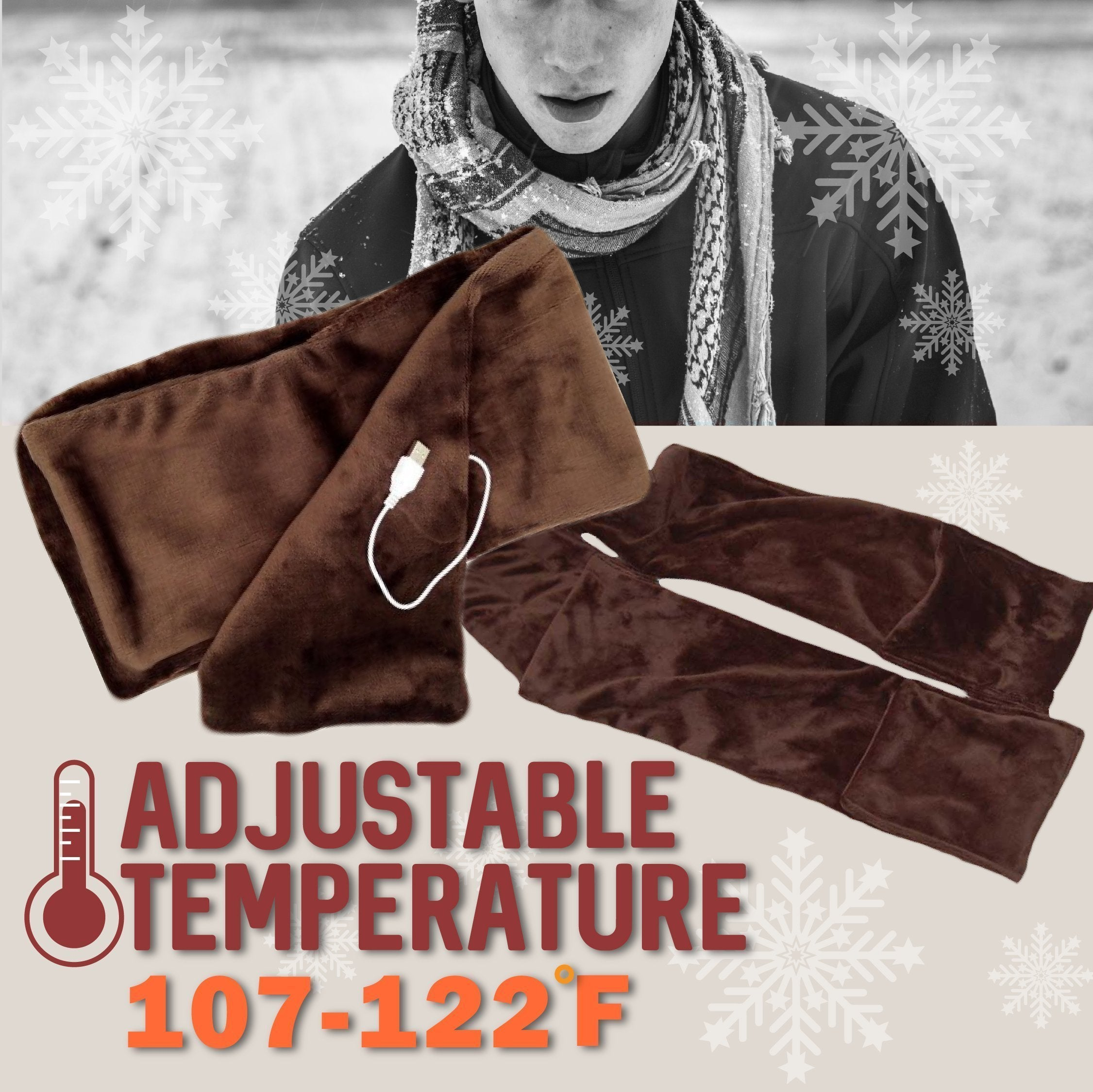 Fleece Heating Scarf for Health