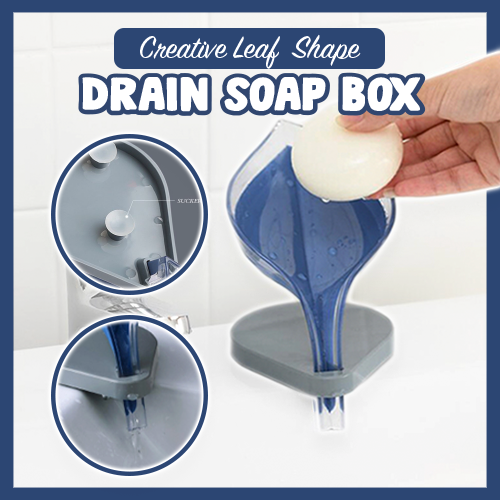Creative leaf shape drain soap box