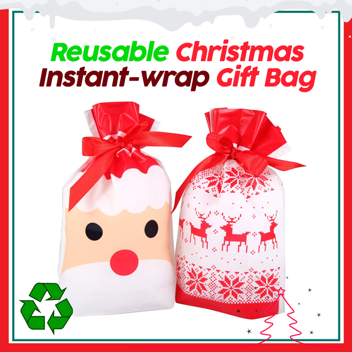Quick Wrap Christmas Gift Bags (10 pcs)
