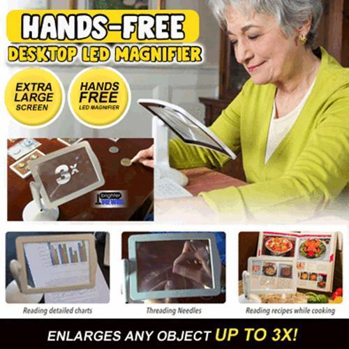 Hands-Free Desktop LED Magnifier