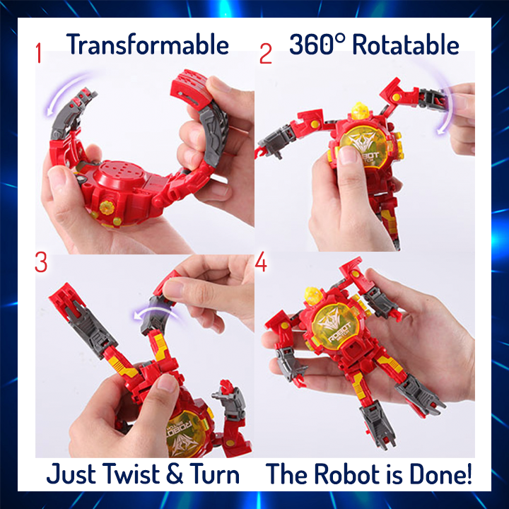 2-in-1 Transforming Robot Toy Watch
