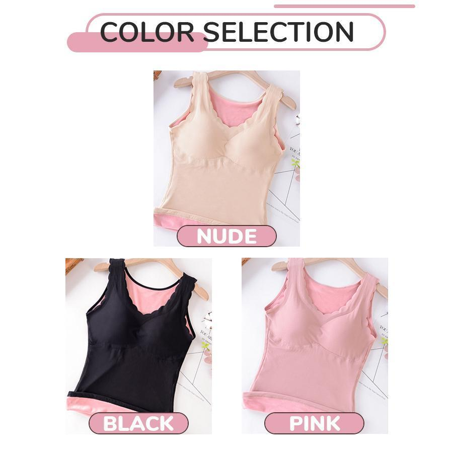 Velvet Thermal Lace Sleeveless InnerWear
