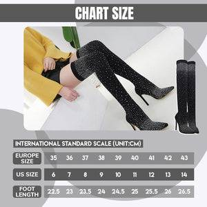 Crystal Sparkle Knee High Boots