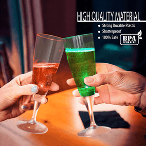 Liquid Sensor LED Champagne Glass