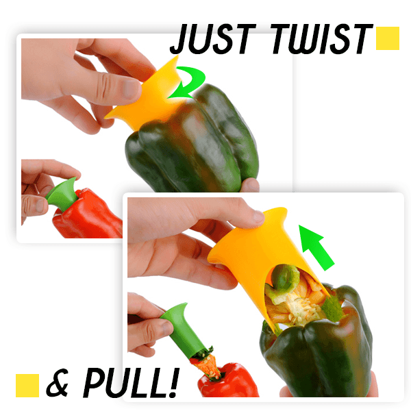 Push-n-Twist Pepper Corer (Set of 2)
