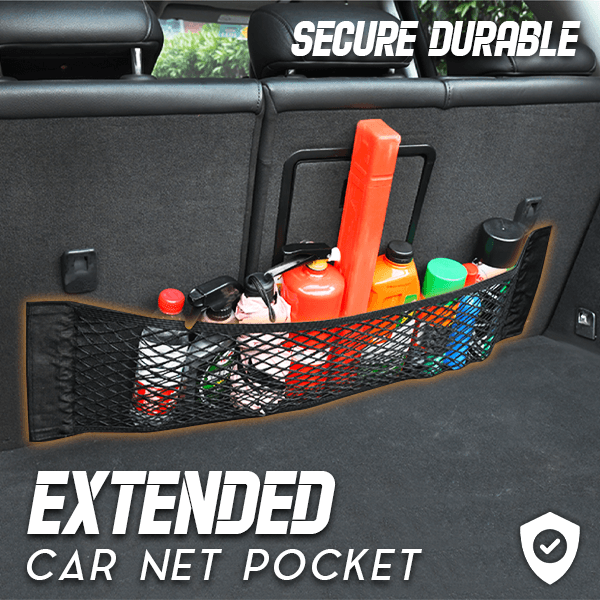 Extended Car Net Pocket