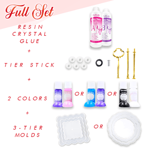 Crystal Resin 3-Tier Tray DIY Kit