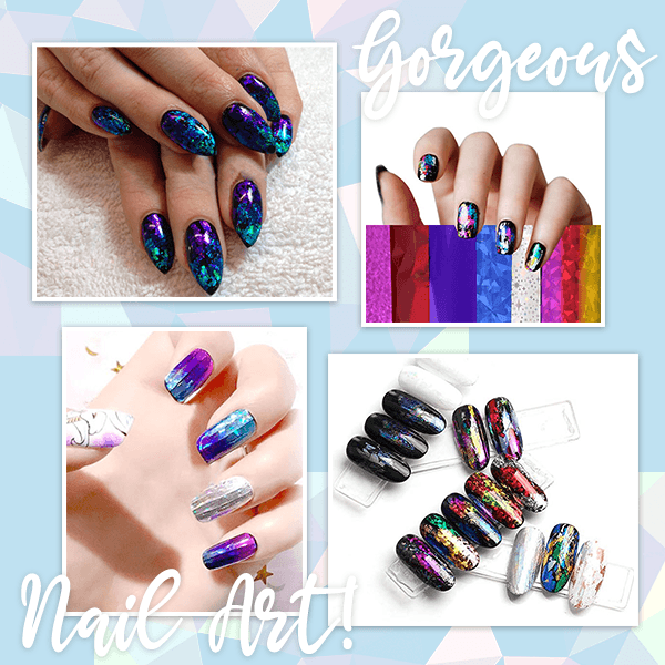 Mosaic Nail Art Transfer Foils (Set of 12)