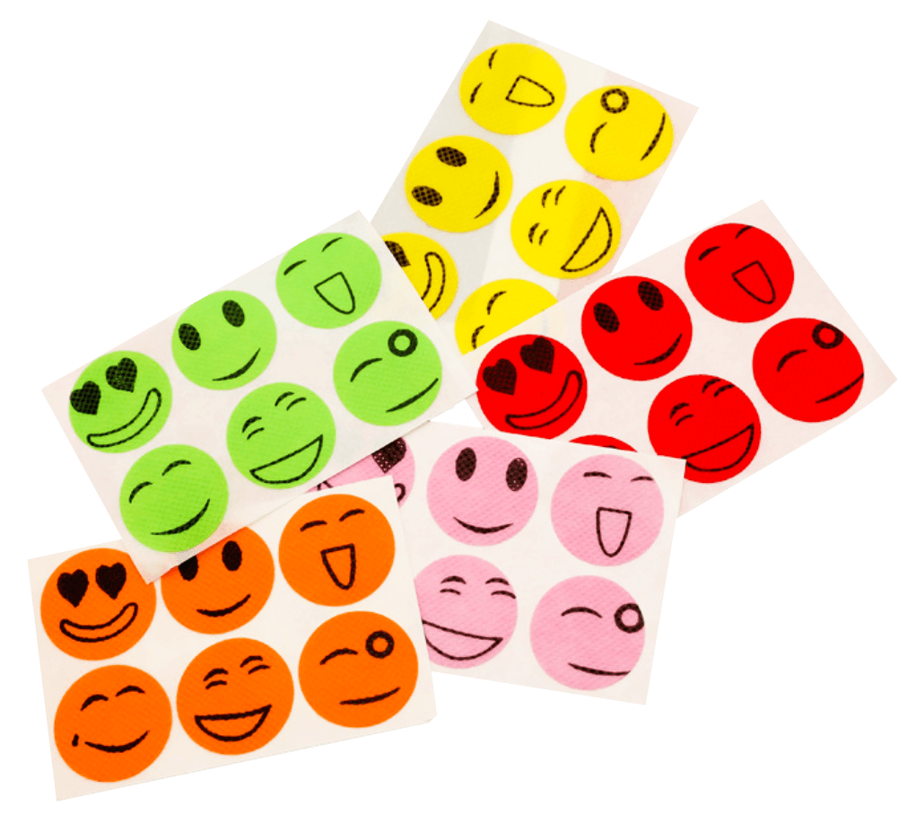 Anti-Mosquito Smiley Stickers (60 pcs)