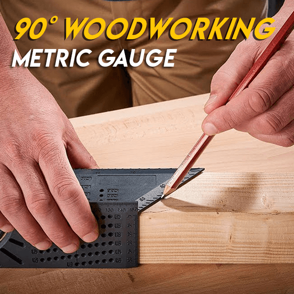 90° Woodworking Metric Gauge