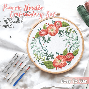 Easy Punch Needle Embroidery Set