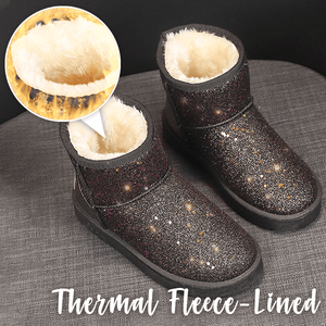 Rhinestone Fleece-Lined Thermal Snow Boots