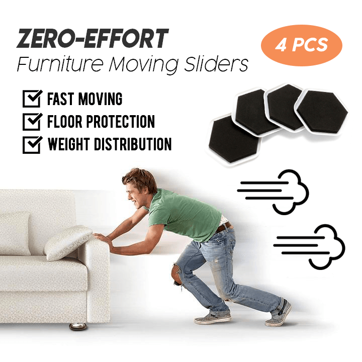 Zero-Effort Furniture Moving Sliders (4 PCS)