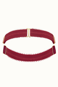 Tisja Damen Luxury Lingerie Signature Neck Collar Burgundy One Size