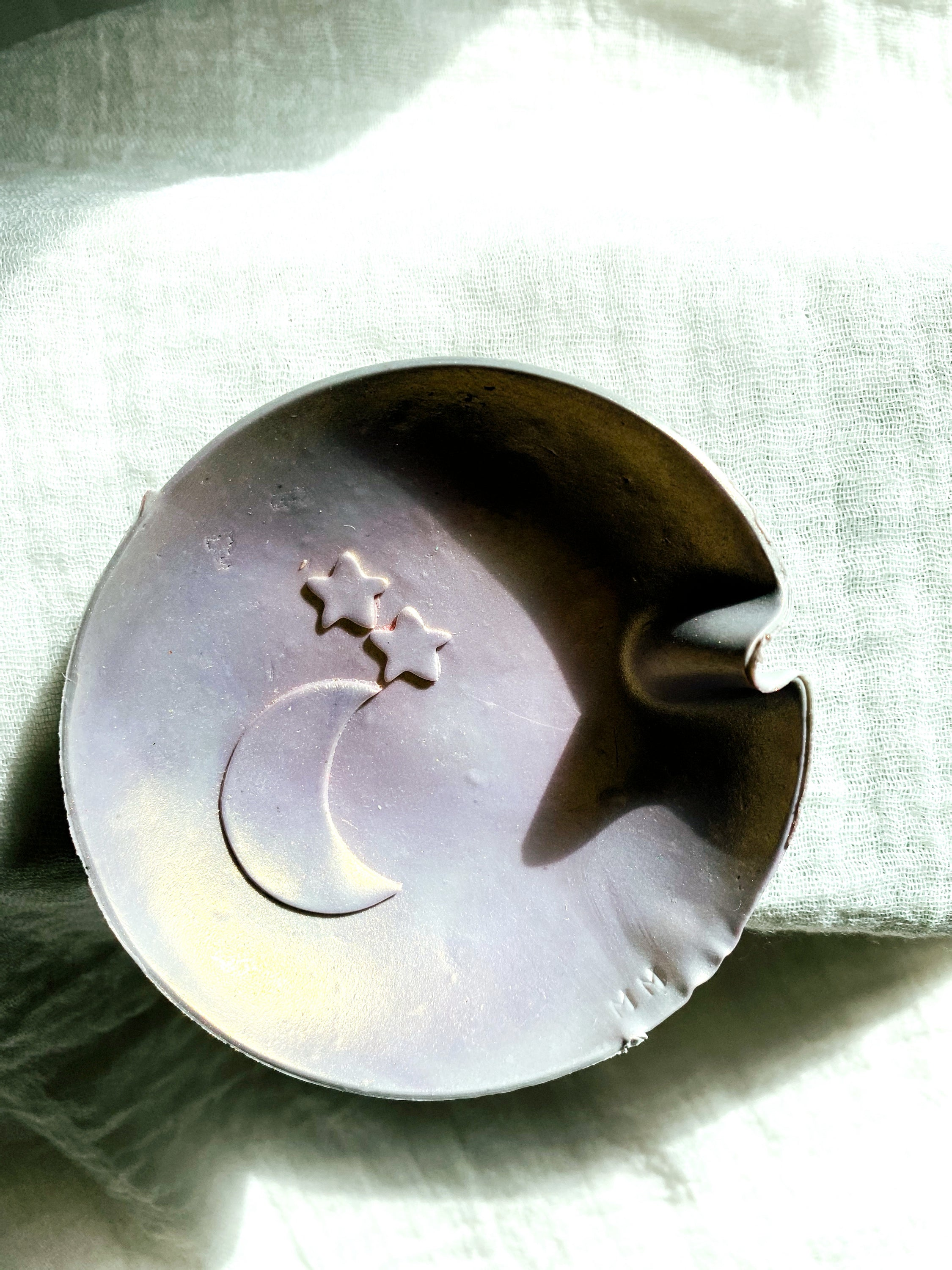 Moon and Star Embossed Medium Dish