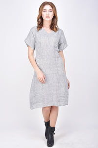 The Aediva Linen Stripes Dress