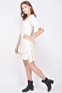 The Ahuva Linen Dress in off White