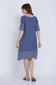 The Lennon Linen Embroidery Dress