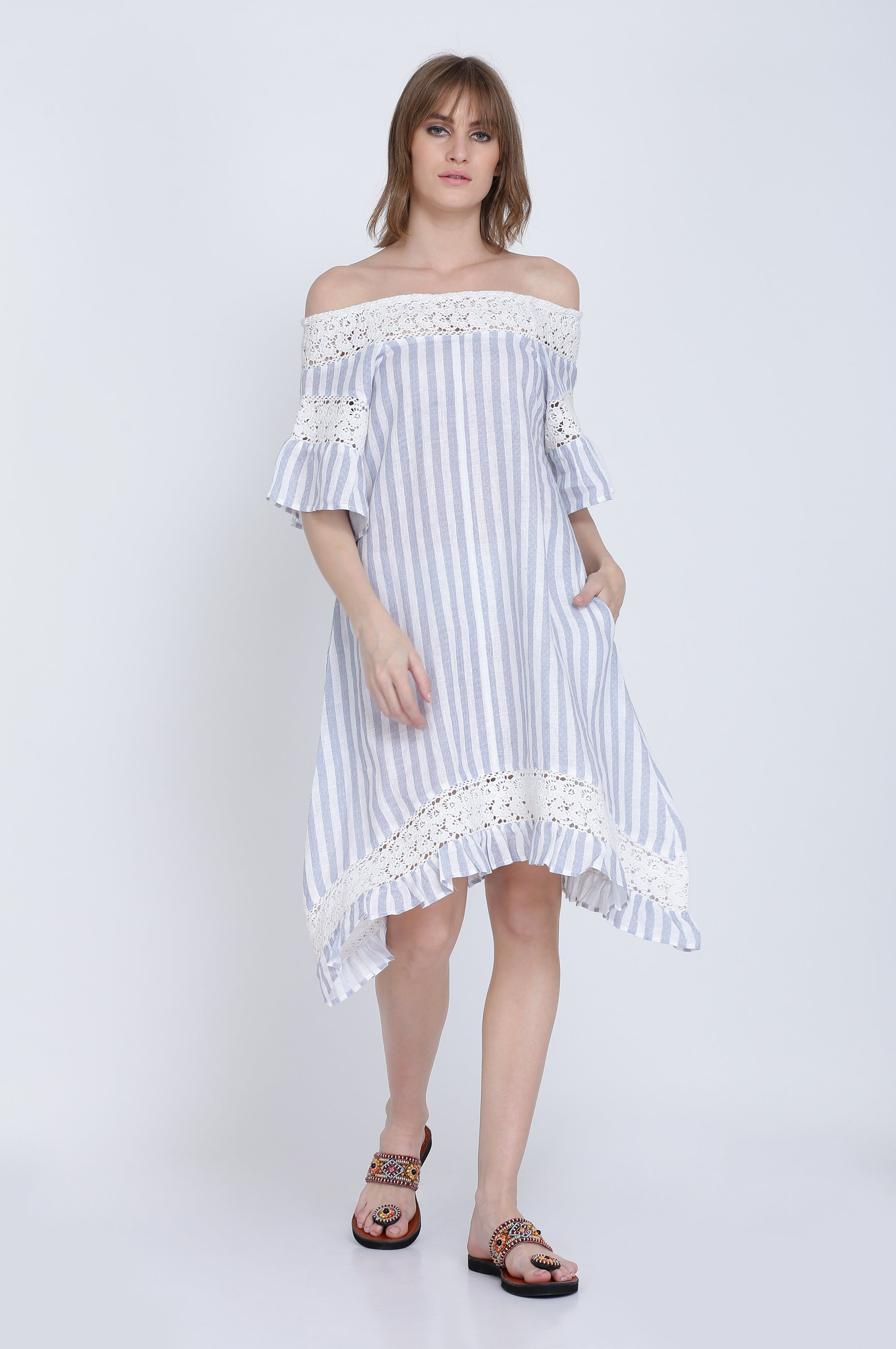 The Sophia Linen Dress