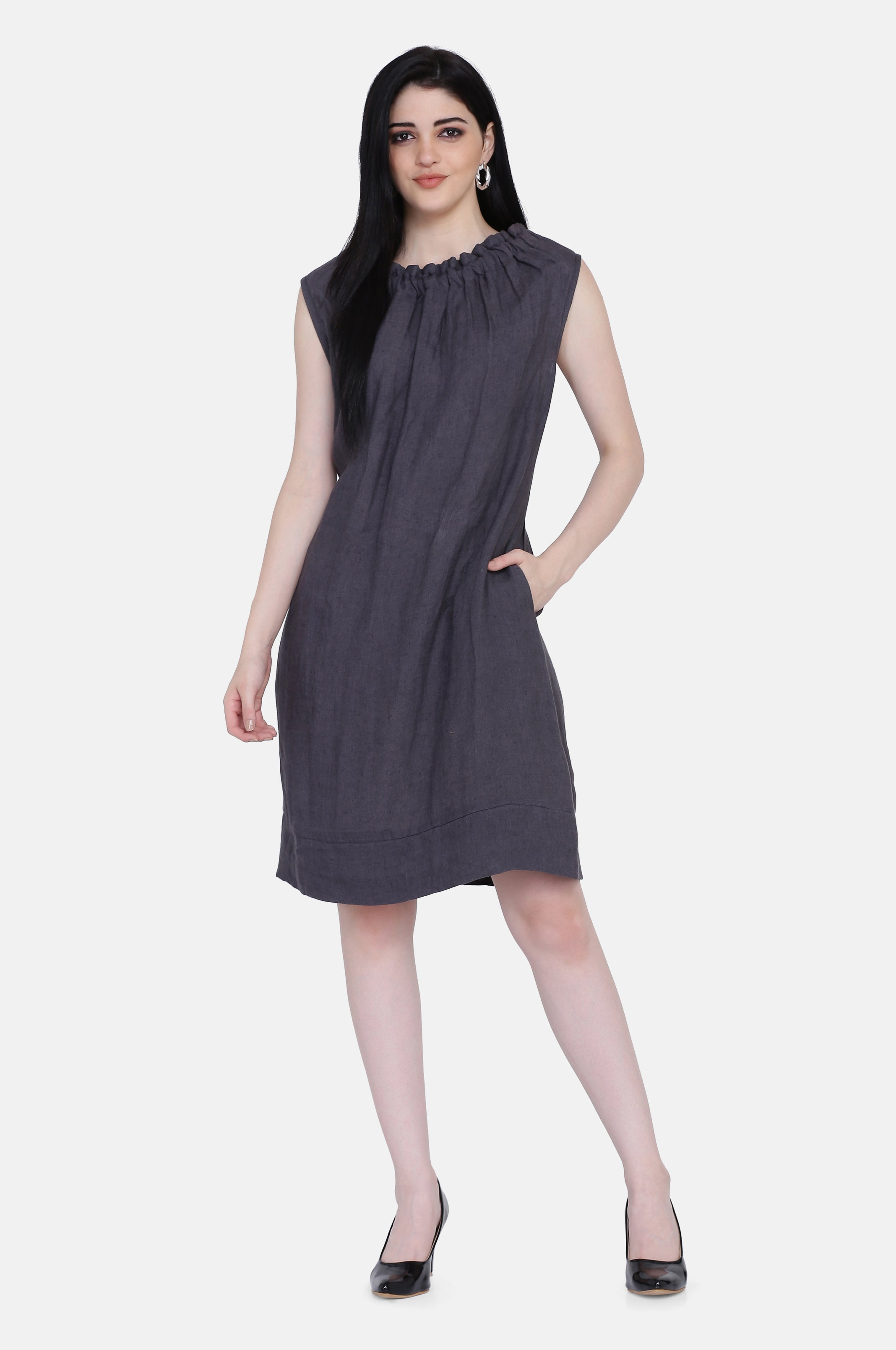 The Ruby Linen Reversible Dress