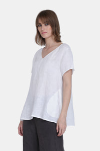 The Jenna Linen V Neckline Top