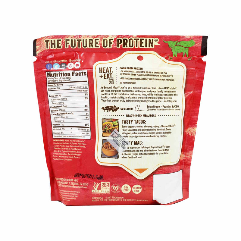 Beyond Meat Beyond Beef Crumbles Feisty 283g