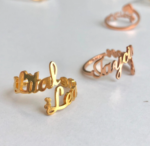 Our Moment | Custom Double Name Ring