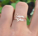 Load image into Gallery viewer, Our Moment | Custom Double Name Ring