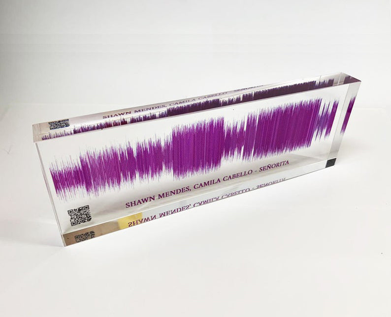 3D Sound Wave Block with QR Code