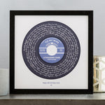 Load image into Gallery viewer, Personalized Lyrics Vinyl Print