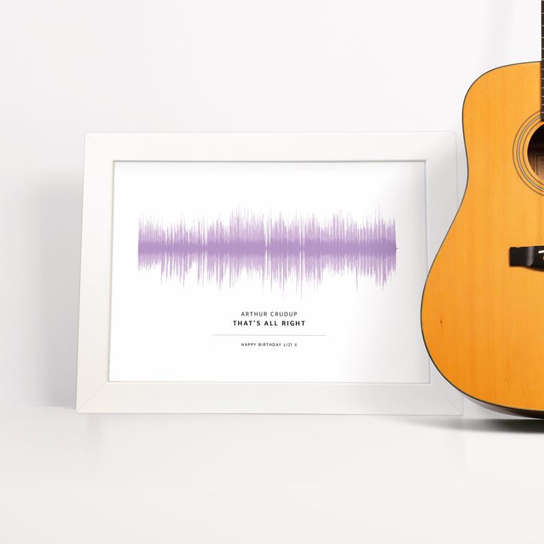 Personalized Sound Wave Art