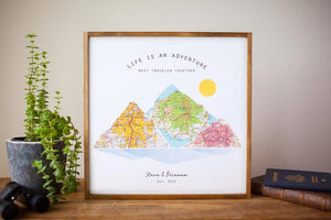 Personalized Travel Map Wood Print