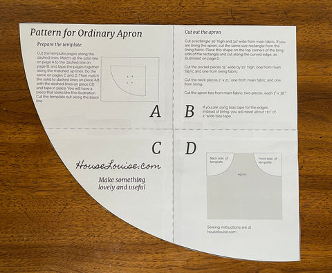 assembled apron template