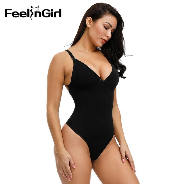 FeelinGirl Women V-neck Bodysuit