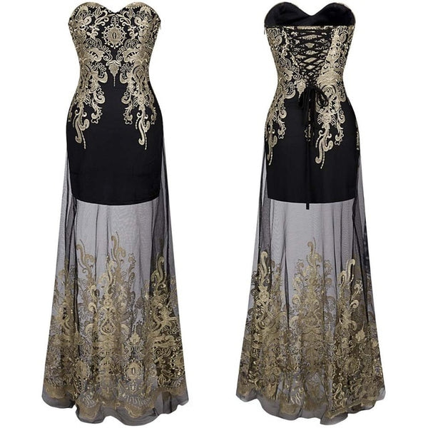 Lace up Long Evening Dress