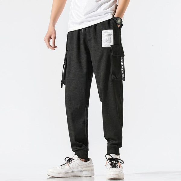 Men Black Harem Pant