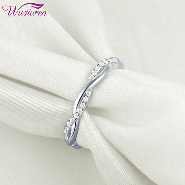 Sterling Silver Twist Rope Wedding Ring