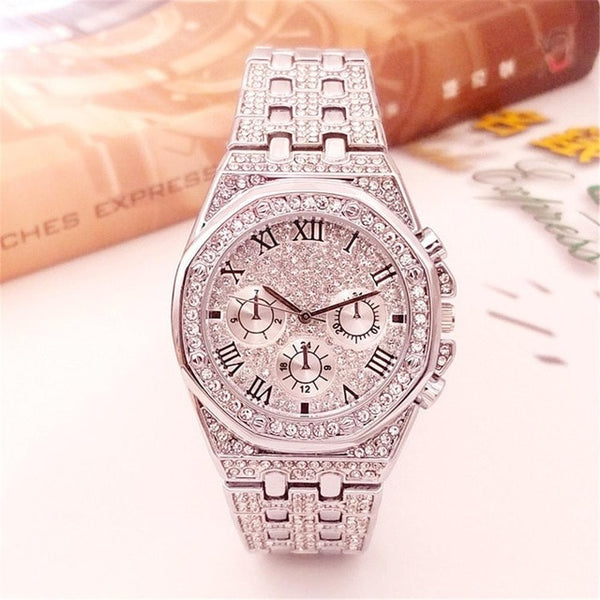 Luxury Iced Out Watch Gold Diamond for Men