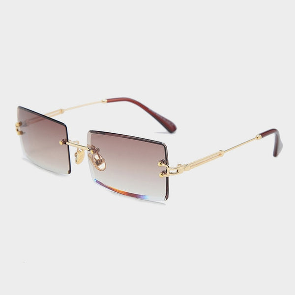 Rectangle Sun Glasses UV400 Gold