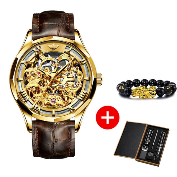 OUPINKE Luxury Men Automatic Mechanical Watch
